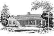 Country Style House Plan - 2 Beds 1 Baths 990 Sq/Ft Plan #22-123 Exterior - Other Elevation