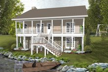 Dream House Plan - Country Exterior - Rear Elevation Plan #56-697