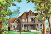 European Style House Plan - 3 Beds 2 Baths 2806 Sq/Ft Plan #25-4798 Exterior - Front Elevation