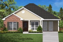 Dream House Plan - Country Exterior - Front Elevation Plan #430-6