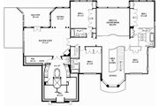 European Style House Plan - 5 Beds 5 Baths 5701 Sq/Ft Plan #119-197 Floor Plan - Upper Floor