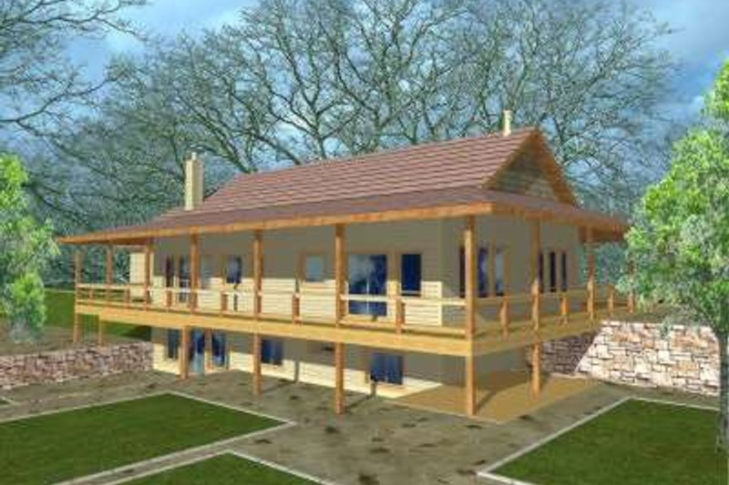 Traditional Exterior - Front Elevation Plan #117-322 - Houseplans.com