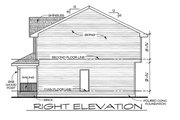 Traditional Style House Plan - 3 Beds 2.5 Baths 1297 Sq/Ft Plan #20-2105 Exterior - Front Elevation