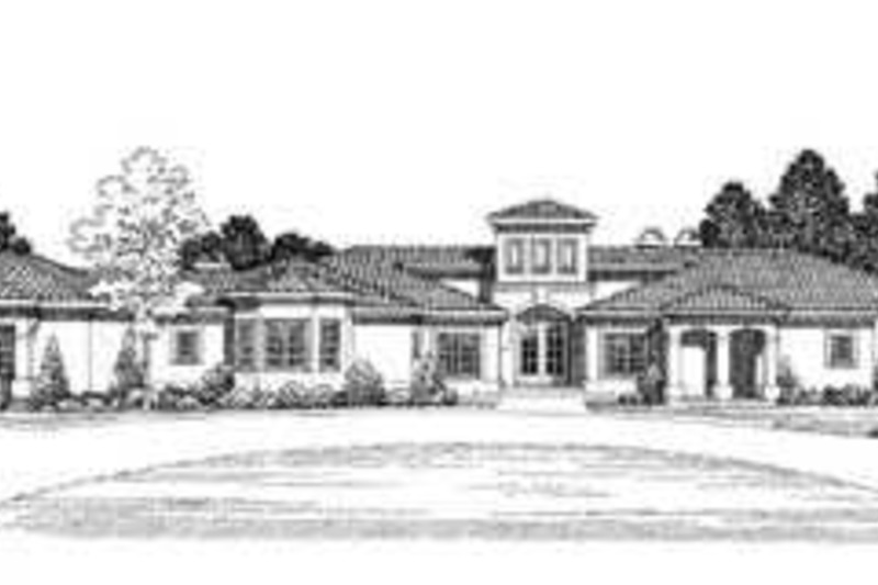 Mediterranean Exterior - Front Elevation Plan #72-173