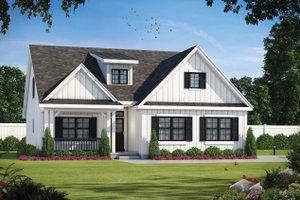 House Blueprint - Farmhouse Exterior - Front Elevation Plan #20-2411