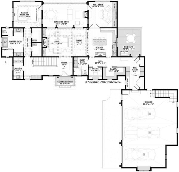 Home Plan - Farmhouse Floor Plan - Main Floor Plan #928-357