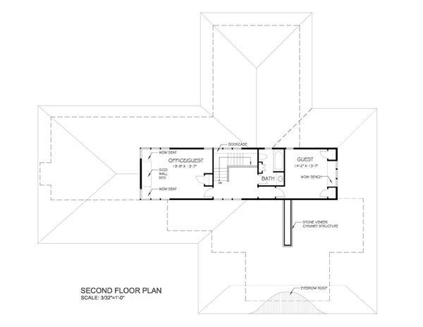 Prairie Floor Plan - Upper Floor Plan Plan #454-7