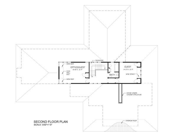 Prairie Floor Plan - Upper Floor Plan #454-7
