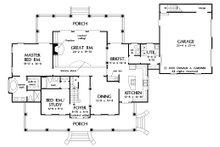 Country Floor Plan - Main Floor Plan Plan #929-18