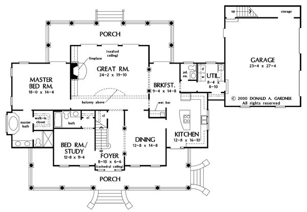 Country Floor Plan - Main Floor Plan Plan #929-18