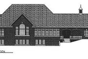 European Style House Plan - 2 Beds 2.5 Baths 3336 Sq/Ft Plan #70-507 Exterior - Rear Elevation