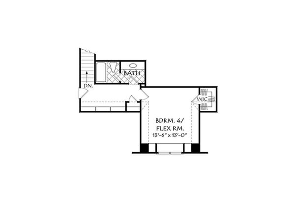 European Floor Plan - Upper Floor Plan Plan #927-15