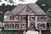 European Style House Plan - 5 Beds 4 Baths 3292 Sq/Ft Plan #129-155 Exterior - Front Elevation