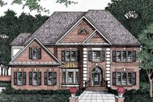 Dream House Plan - European Exterior - Front Elevation Plan #129-155