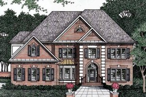 European Exterior - Front Elevation Plan #129-155
