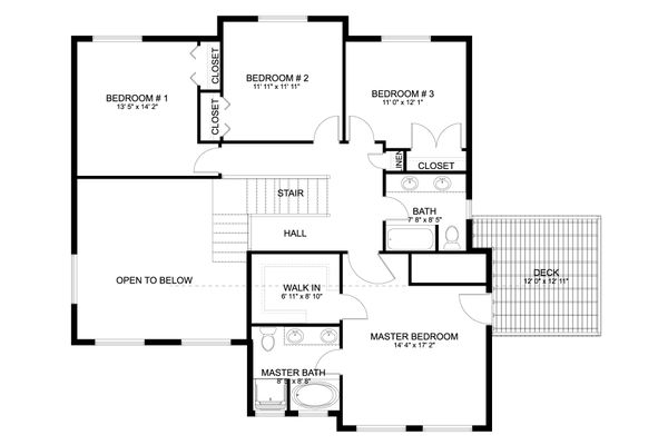 Dream House Plan - Craftsman Floor Plan - Upper Floor Plan #1060-66