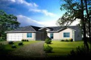 Adobe / Southwestern Style House Plan - 5 Beds 3 Baths 2379 Sq/Ft Plan #1-1458 Exterior - Front Elevation
