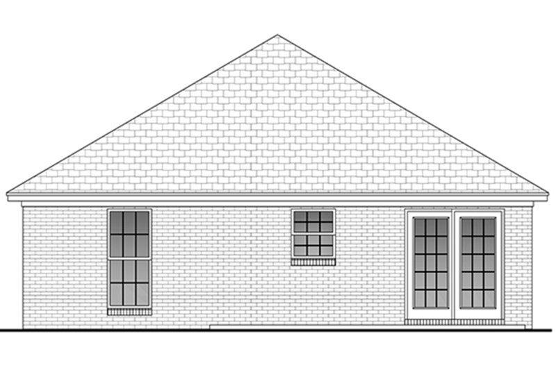 Traditional Exterior - Rear Elevation Plan #430-1 - Houseplans.com