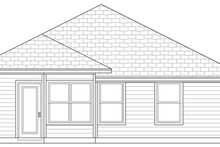 House Plan Design - Traditional Exterior - Rear Elevation Plan #84-496