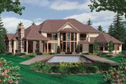 European Style House Plan - 5 Beds 6.5 Baths 6497 Sq/Ft Plan #48-360 Exterior - Rear Elevation
