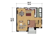 Contemporary Style House Plan - 3 Beds 1 Baths 1552 Sq/Ft Plan #25-4278 Floor Plan - Main Floor Plan
