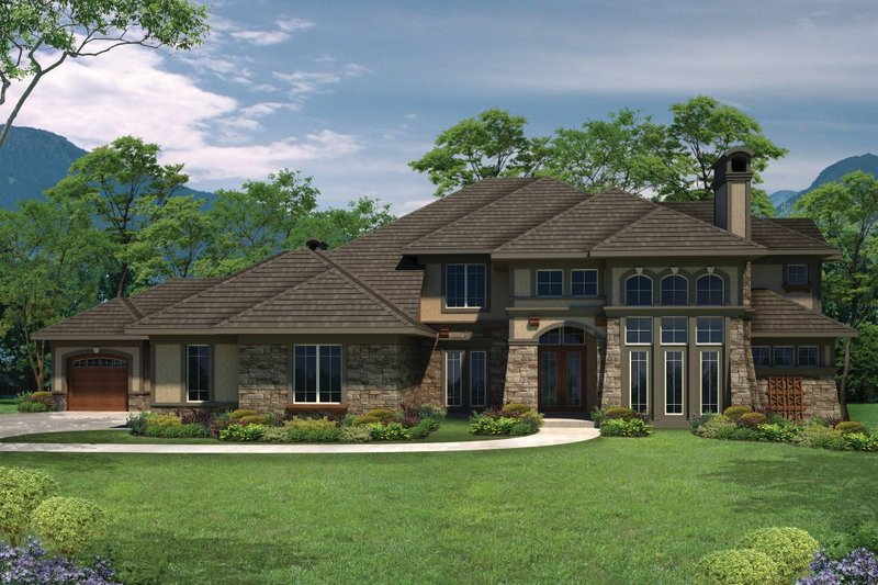 Dream House Plan - European Exterior - Front Elevation Plan #70-1094