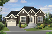 Traditional Style House Plan - 2 Beds 1 Baths 1002 Sq/Ft Plan #25-4454 Exterior - Front Elevation