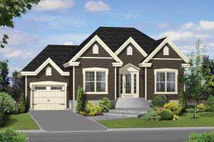 Traditional Exterior - Front Elevation Plan #25-4454