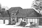 Traditional Style House Plan - 3 Beds 2 Baths 2106 Sq/Ft Plan #15-125 Exterior - Front Elevation