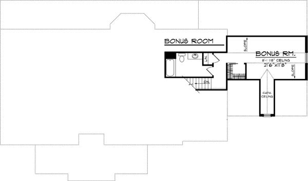 Country Style House Plan - 3 Beds 2 Baths 2016 Sq/Ft Plan #70-1050 Floor Plan - Other Floor Plan