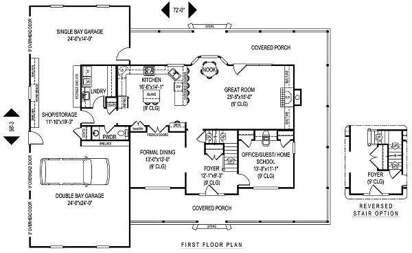 Farmhouse Floor Plan - Main Floor Plan Plan #11-229