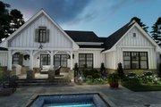 Farmhouse Style House Plan - 4 Beds 2 Baths 2459 Sq/Ft Plan #120-265 Exterior - Rear Elevation