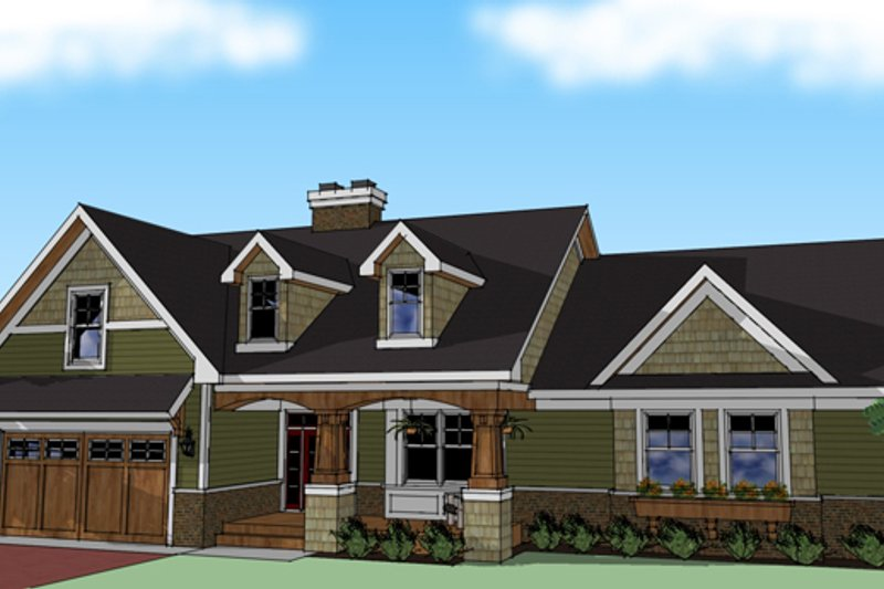 Craftsman Exterior - Other Elevation Plan #51-512 - Houseplans.com