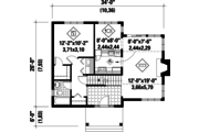 Country Style House Plan - 3 Beds 2 Baths 1368 Sq/Ft Plan #25-4741 Floor Plan - Main Floor Plan