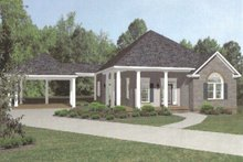Home Plan - European style home, cottage design, front elevation