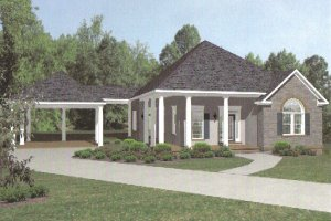 House Plan Design - European style home, cottage design, front elevation