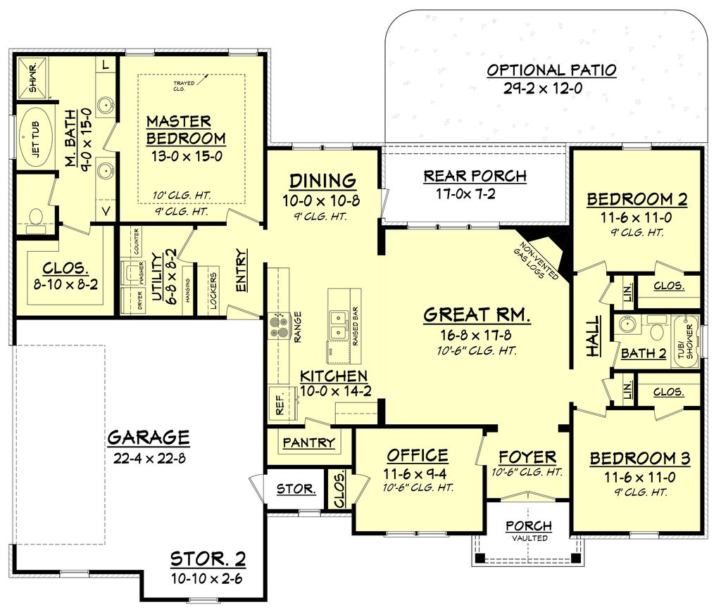 Craftsman Style House Plan 3 Beds 2 Baths 1769 Sq Ft Plan 430