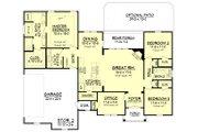 Craftsman Style House Plan - 3 Beds 2 Baths 1769 Sq/Ft Plan #430-99 Floor Plan - Main Floor Plan