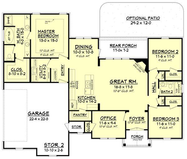 Architectural House Design - Craftsman Floor Plan - Main Floor Plan #430-99