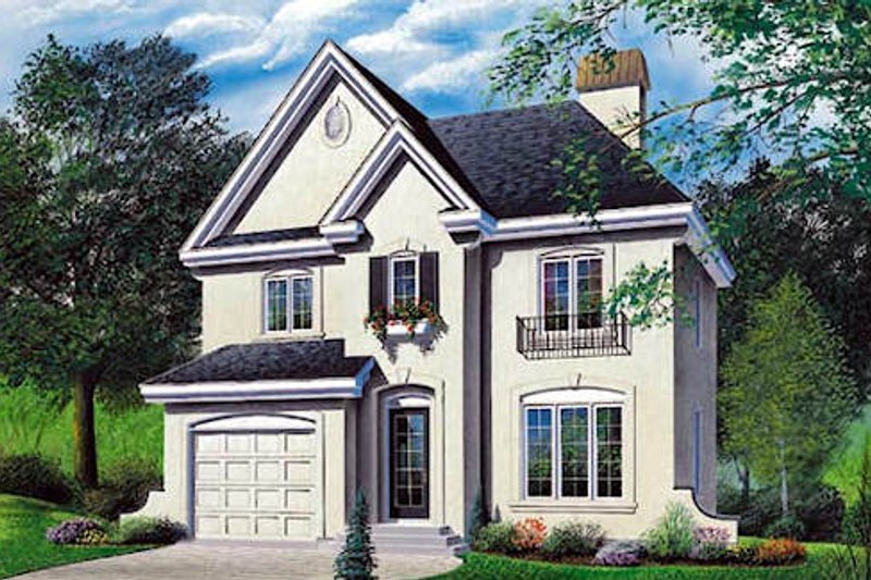 Home Plan - European Exterior - Front Elevation Plan #23-297