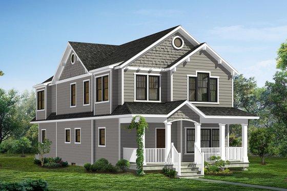 Craftsman Exterior - Front Elevation Plan #1057-11