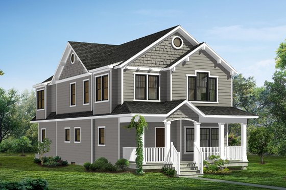 Craftsman Exterior - Front Elevation Plan #1057-11