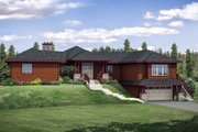Craftsman Style House Plan - 3 Beds 2 Baths 3389 Sq/Ft Plan #124-1092 Exterior - Front Elevation