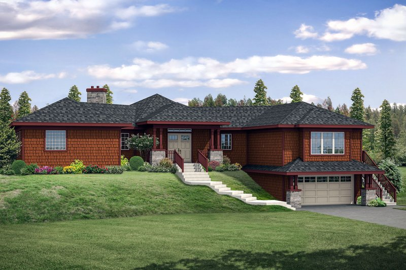 Home Plan - Craftsman Exterior - Front Elevation Plan #124-1092