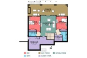 Traditional Style House Plan - 4 Beds 4 Baths 2805 Sq/Ft Plan #63-431 Floor Plan - Lower Floor Plan