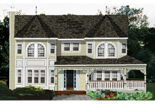 Dream House Plan - Victorian Exterior - Front Elevation Plan #3-267