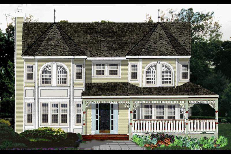 Victorian Exterior - Front Elevation Plan #3-267