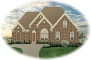 Colonial Style House Plan - 3 Beds 2 Baths 2121 Sq/Ft Plan #81-1560 Exterior - Front Elevation