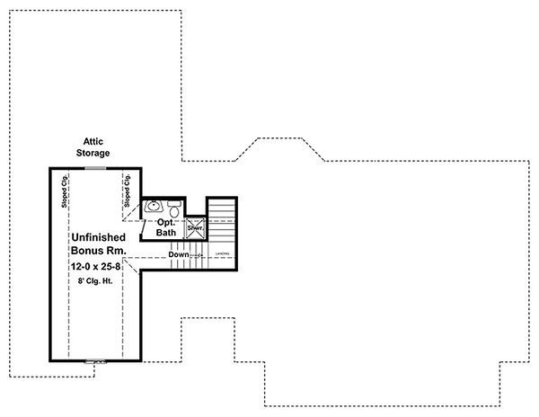 Country Floor Plan - Upper Floor Plan Plan #21-301