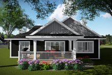 Home Plan Design - Ranch Exterior - Rear Elevation Plan #70-1484